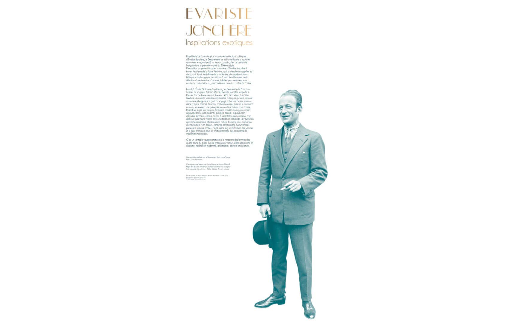 Le département de la Haute-Savoie a souhaité mettre en lumière le parcours singulier de l'artiste voyageur Évariste Jonchère. L'exposition