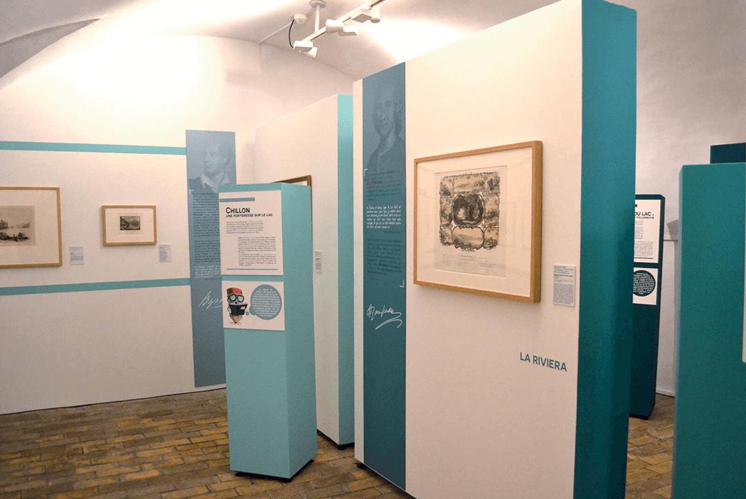 """Deuxième acte de l'exposition du voyage autour du lac : """"La rive nord du Léman, de Villeneuve à Ferney-Voltaire"""
